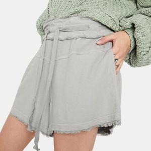 Free People Up & Away High Waist Grey Shorts NWT